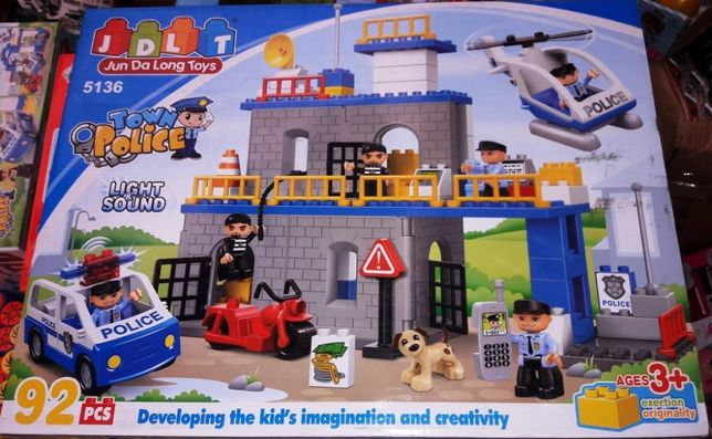 Конструктор для малышей JDLT 5136 аналог Lego Duplo Полицейский участо