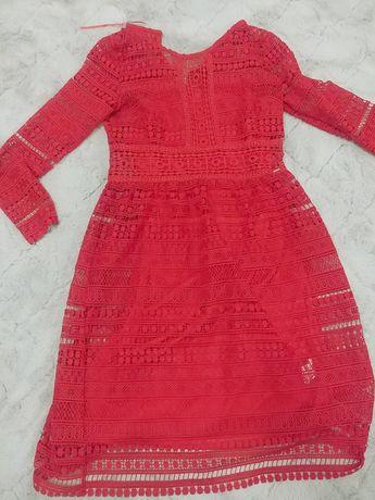 Sukienka czerwona świąteczna M 38