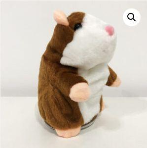 Говорящий хомяк повторюшка детская интерактивная мягкая игрушка