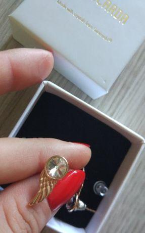 Srebrne kolczyki Angel Wings - COCARDA - z kryształami Swarovskiego