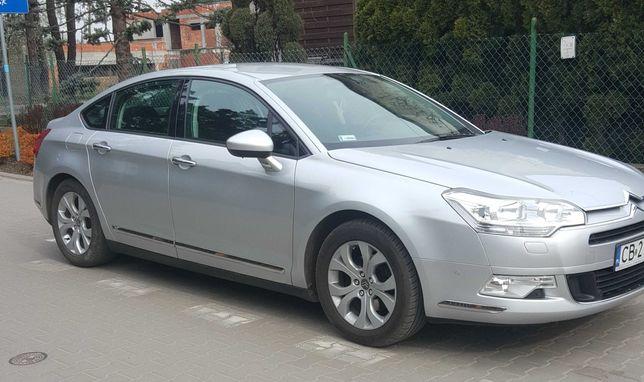 komfortowy Citroen C5 2.0 HDI, srebrny metalik,  sedan, z 2010 r.,