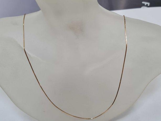 Piękny złoty łańcuszek damski/ 585/ 2.48 gram/ 46cm/ Żmijka