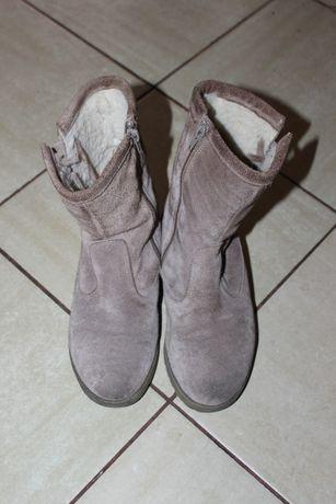 Buty damskie botki / zamszowe kozaki rozmiar 36