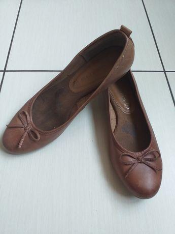 Балетки туфли кожаные Tamaris 37 размер