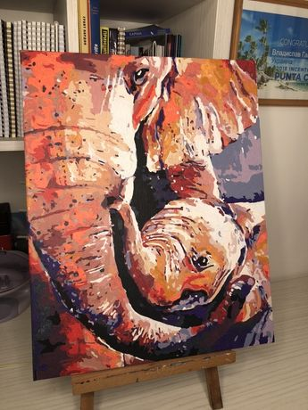 Картина Подарок мама и малыш, Лошадь, Природа