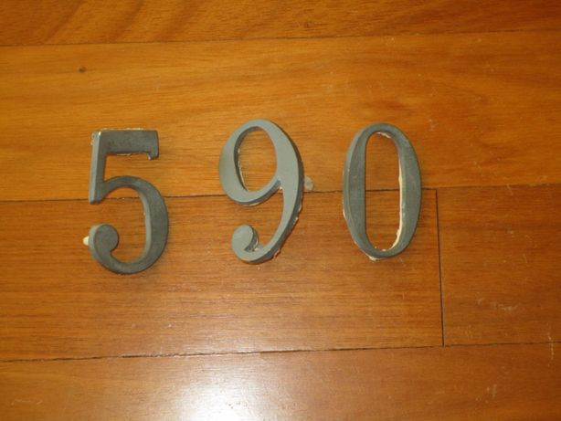 Números de Porta em Alumínio