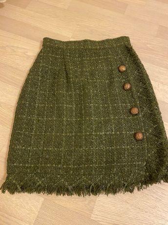Продаю новую юбку размер xs-s твид My clothing