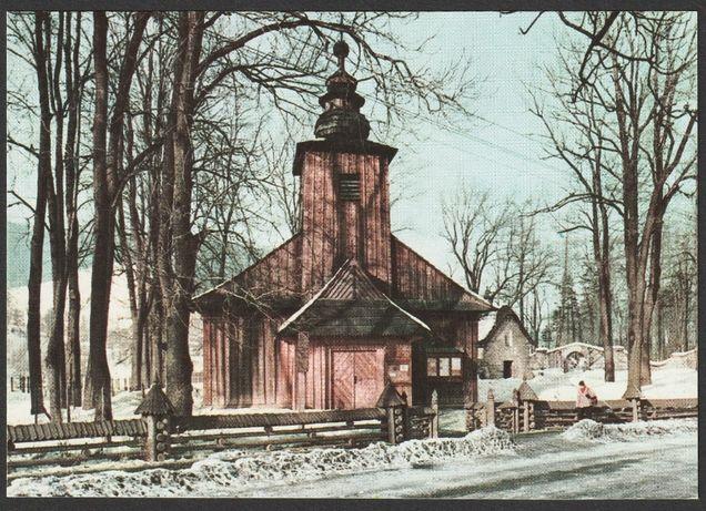 pocztówka - Zakopane 1971 - Kościelisko - kościółek