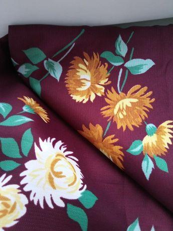 Ткань шелк искусственный два отреза ткани 1.06 на 3 СССР качество