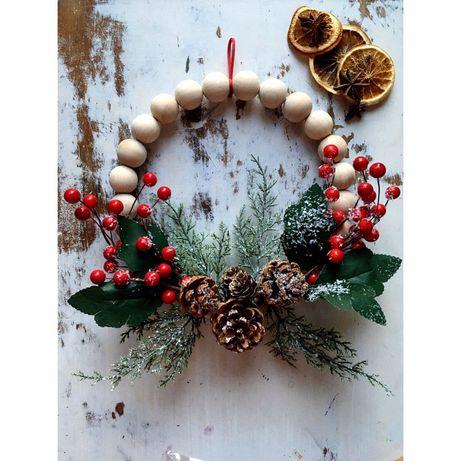 Wieniec, stroik, ozdoba świąteczna, dekoracja Boże Narodzenie
