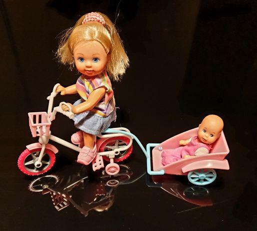 Laleczka Barbie / Simba na rowerze z małym braciszkiem