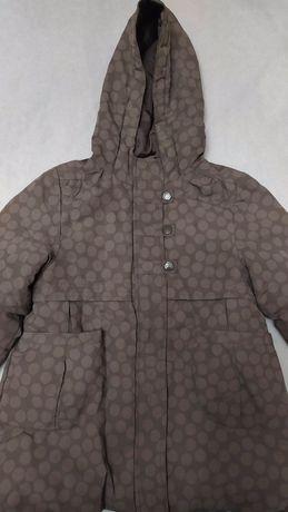 Куртка деми хаки с отстегивающейся кофтой для девочки 5лет/108.