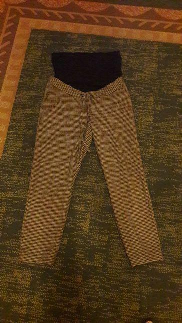 Spodnie ciążowe kratka 36 c&a