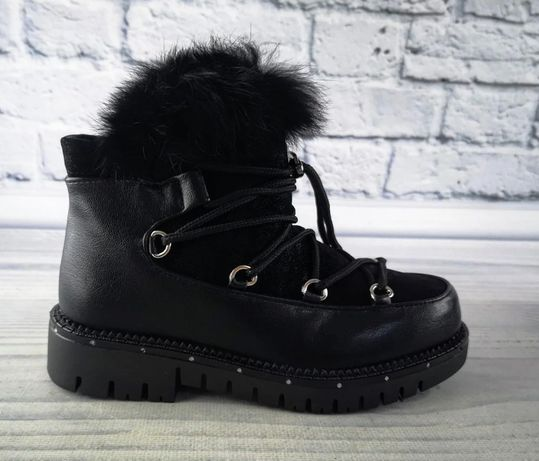Зимние сапоги ботинки луноходы clibee, 32-37рр. натуральная овчина
