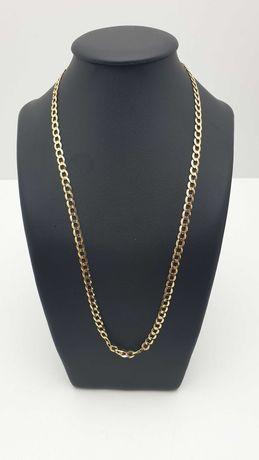 Złoty łańcuszek pancerka 10,53g 585 52cm