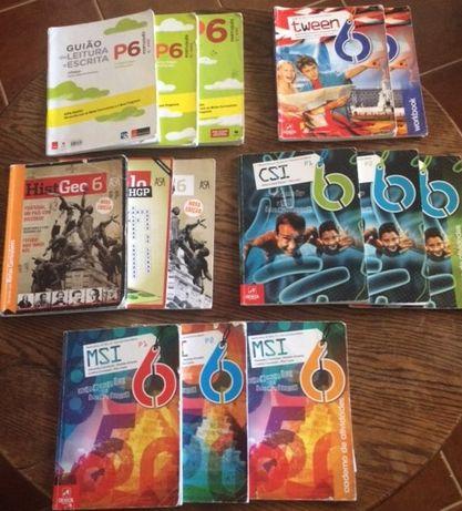 Livros e cadernos de actividades do 6º ano