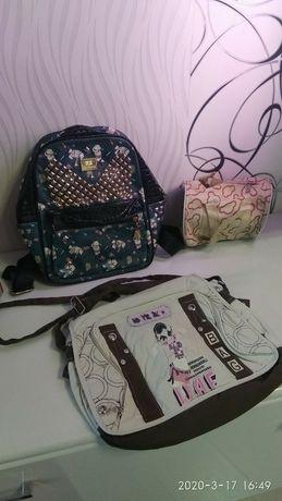 Рюкзак и сумка в школу.