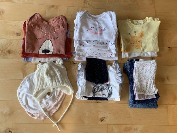 Wyprawka zestaw ubranek niemowlęcych dla dziewczynki rozm. 62-68 21szt