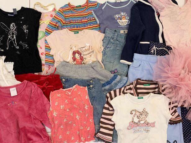 Zestaw ubrań dla dziewczynki 4/5 lat firmowe 20 sztuk
