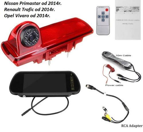 """Światło STOP LED + kamera cofania + monitor 7"""" Trafic Vivaro od 2014r."""