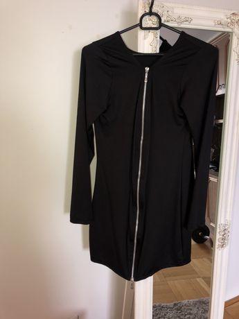 Czarna sukienka z zamkiem S M