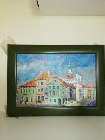 Obraz olejny-Panorama Poznania 2
