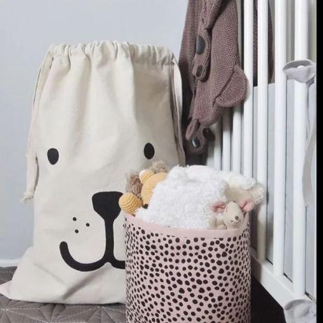 Nowa Bawelniana torba do przechowywania zabawek mis