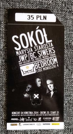 Bilet wstępu koncert Sokół JWP Bez Cenzury Siwers