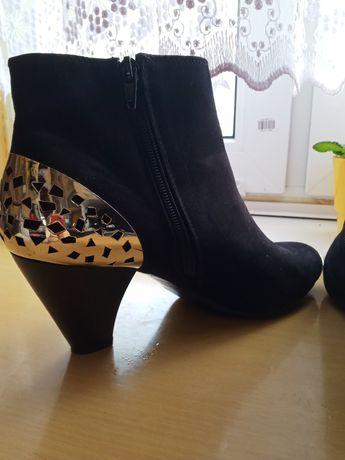 Buty kozaczki krótkie botki czarne rozm 40