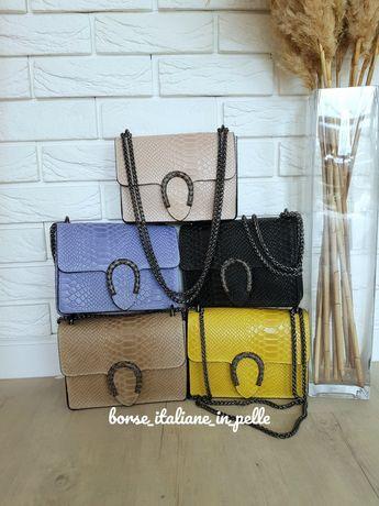 Женские коданые сумочки кросбоди, BORSE ITALIANE IN PELLE