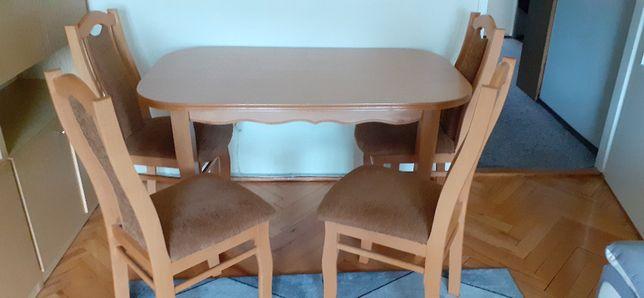 stół + 4 krzesłą tapicerowane