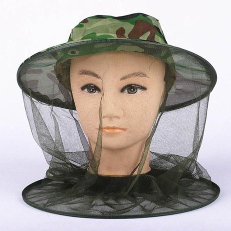 MOSKITIERA - Siatka przeciw komarom i innym owadom na głowę z kapelusz