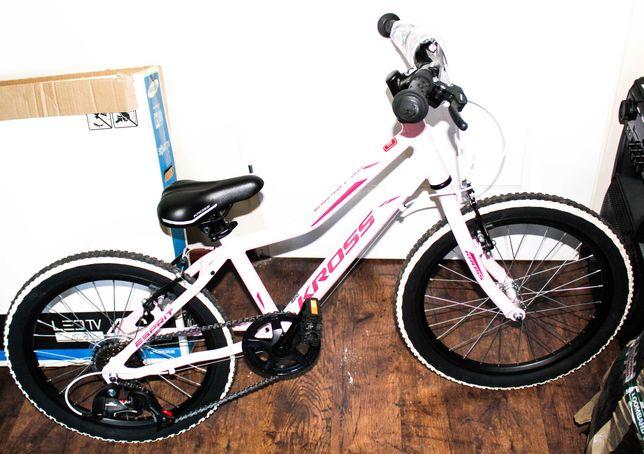 rower KROSS dla dziewczynki 11 CALI z gwarancją różowy