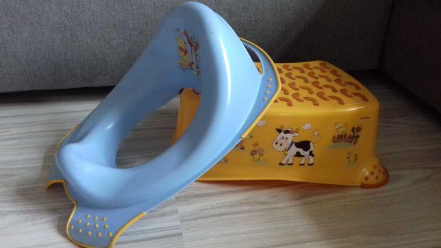 Podest dziecięcy FunFarm i Nakładka antypoślizgowa na sedes deskę