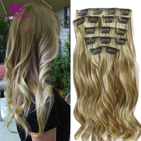 трессы омбре,волосы на заколках омбре амбре,пряди амбре,омбре волосы