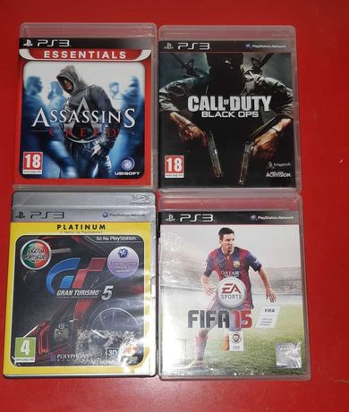Lote de 4 Jogos Call of duty Ops - Ac.creed -Gt5- Fifa 15