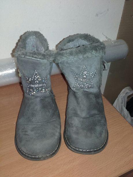 Ciepłe buty kozaki dziewczynka