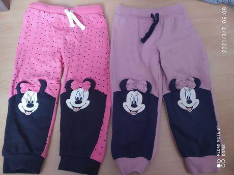Spodnie dresowe Minnie 98 cm dwie pary