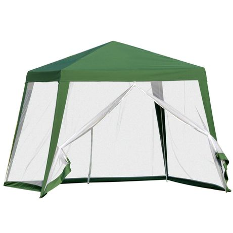 Pawilon Ogrodowy Namiot Imprezowy z Moskitierą Zielony 3x3m