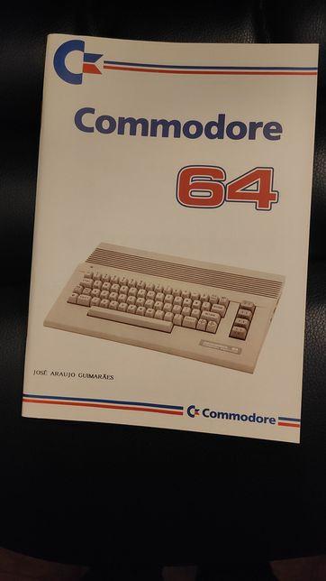 Manual Computador Commodore 64, livro de autor português. Autografado
