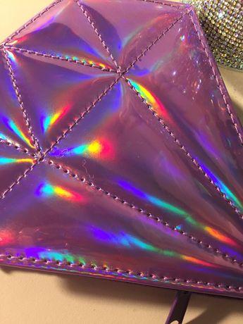 Zestaw do paznokci diament holograficzne etui śliczne nowe glamour