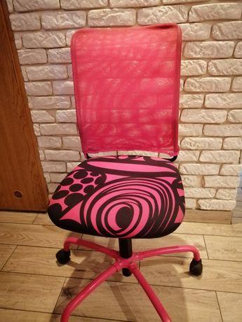 Sprzedam krzesło/fotel  obrotowy do biurka róż +czarny