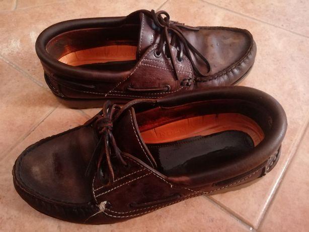 Sapatos vela castanhos Rockport