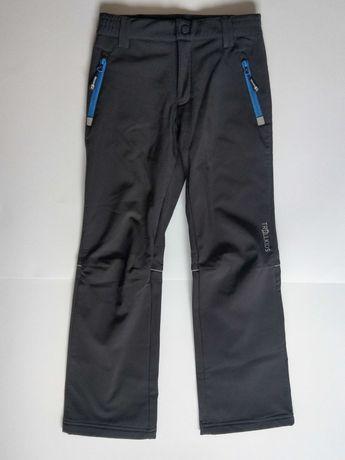 Spodnie narciarskie softshell ciepłe Trollkids rozm. 140