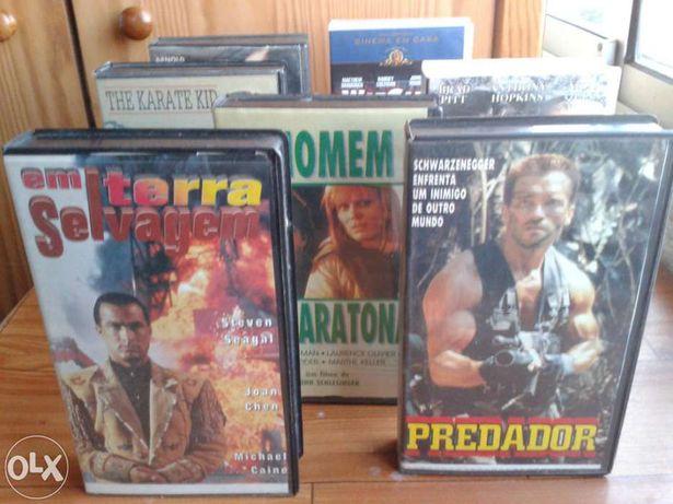 6 Caixas VHS (Incl. Cassetes com Filmes)