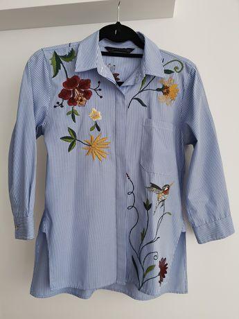 Camisa Zara bordada como nova (c/portes)