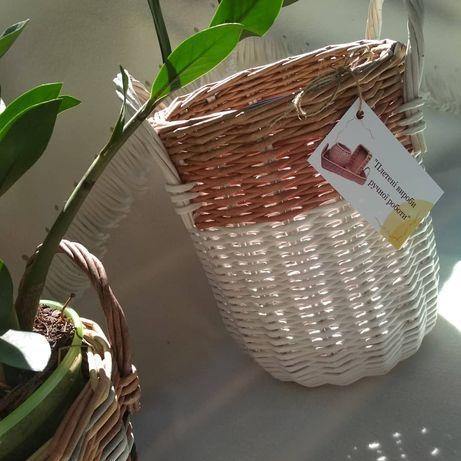 Плетённая корзина кашпо короб для игрушек