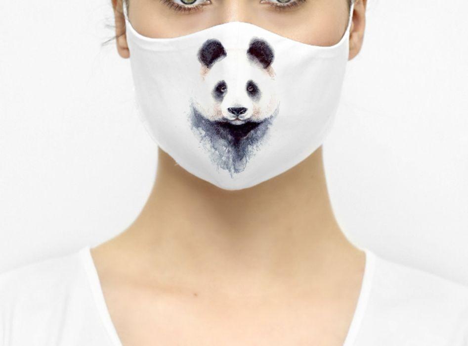 Maska maseczka ochronna panda miś biała Sępólno Krajeńskie - image 1