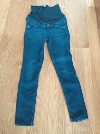 Spodnie jeans rurki ciążowe H&M Mama rozm. S