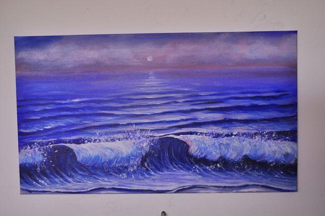 Obraz akrylowy ręcznie malowany 70x40 cm na płótnie